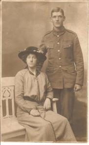 Annie Elmer with my great grandfather, Bertie Ridley